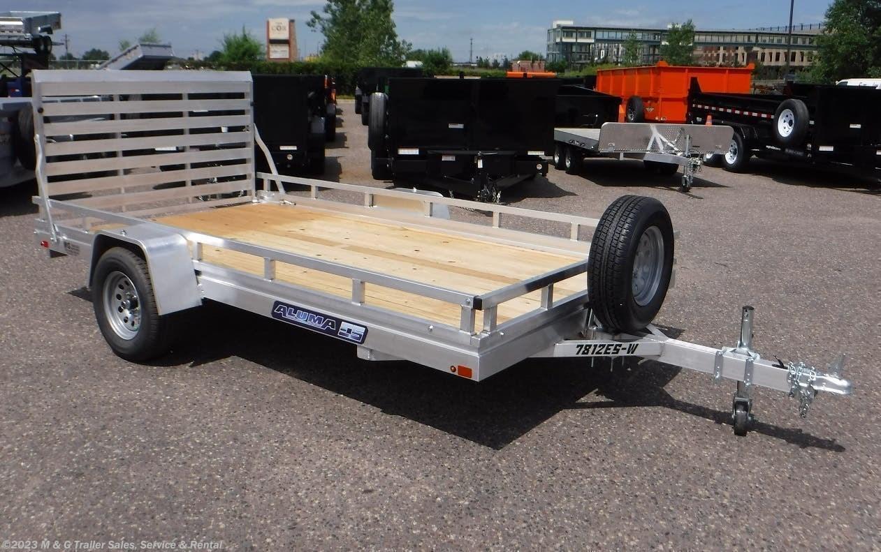 2022 Aluma 7812ESW Wood Deck Utility Trailer - Stock #232013