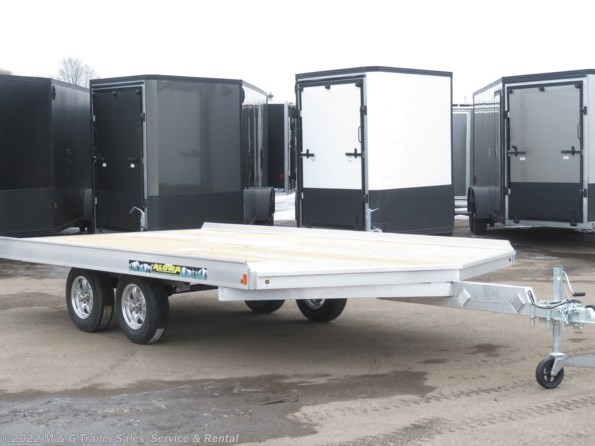 2021 Aluma 8614/13 Aluminum Snowmobile Trailer available in Ramsey, MN