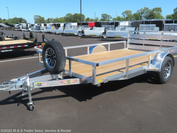 2021 H&H 82x12 Aluminum Rail Side Utility Trailer available in Ramsey, MN