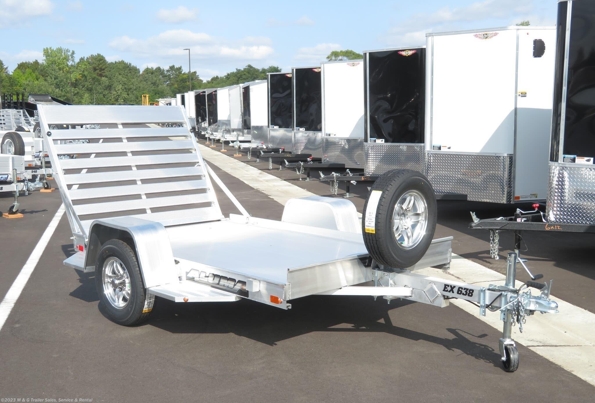 2022 Aluma 638EX Aluminum Utility Trailer - Stock #234437