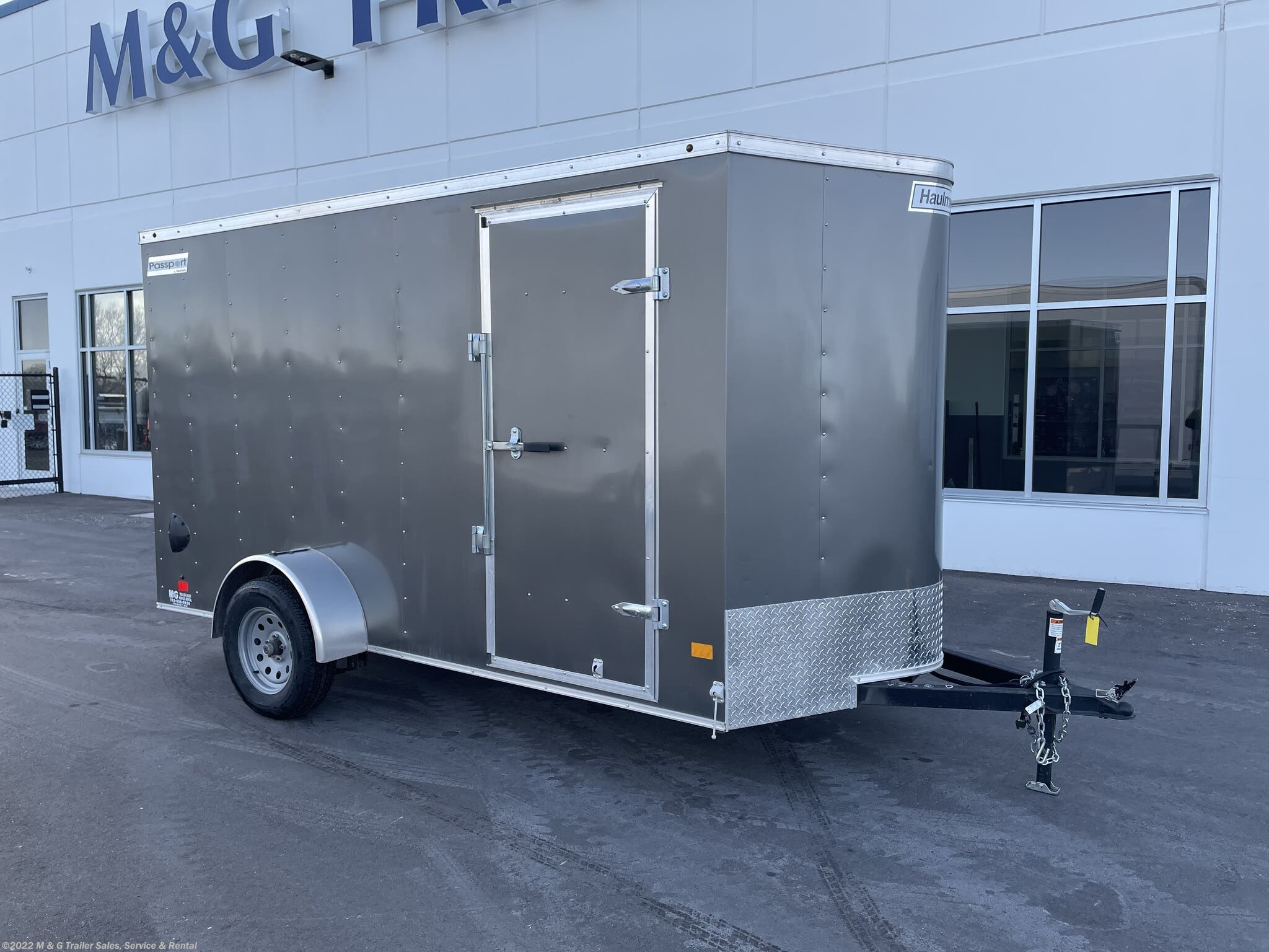 "2019 Haulmark 6x12 Enclosed 6'6"" Cargo Trailer - Charcoal - Stock #H000974"