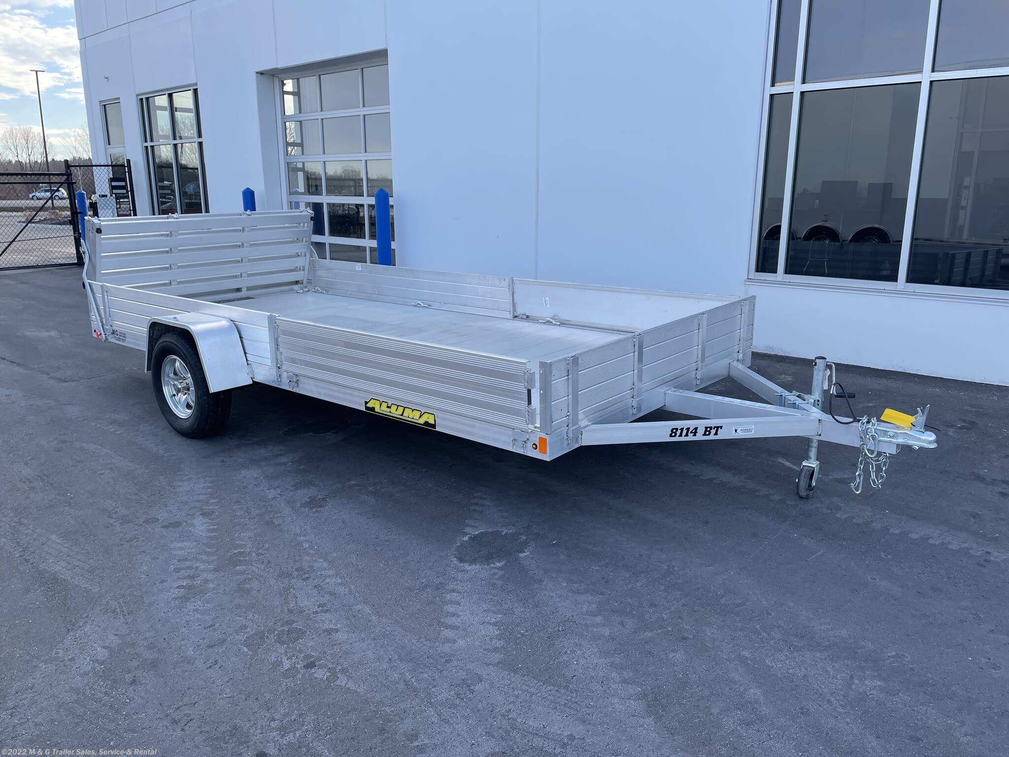 2021 Aluma 8114 BT-SR Aluminum Frame ATV/Utility Trailer - Stock #223688