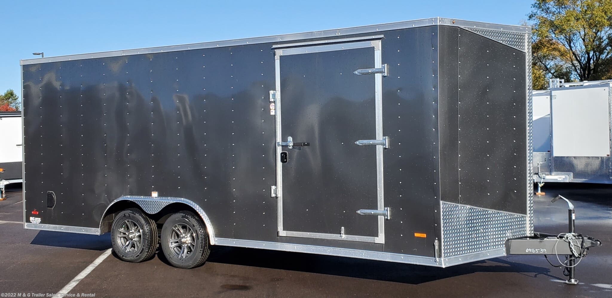 2021 RC Trailers 8.5x20 Enclosed Car Hauler 7k - CHARCOAL - Stock #661790