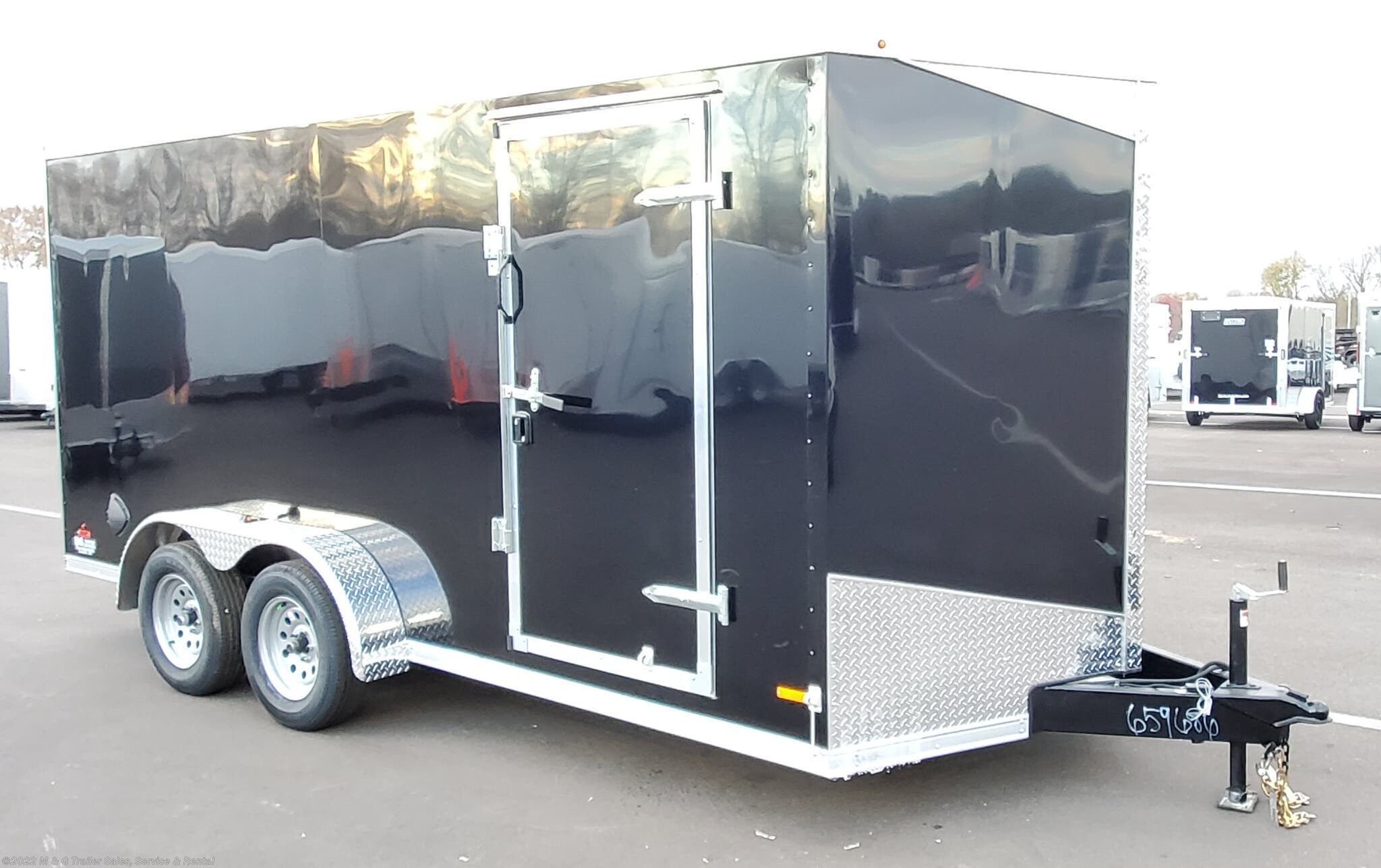 2021 RC Trailers 7x16TA Enclosed 7' Int Cargo - Black - Stock #661615
