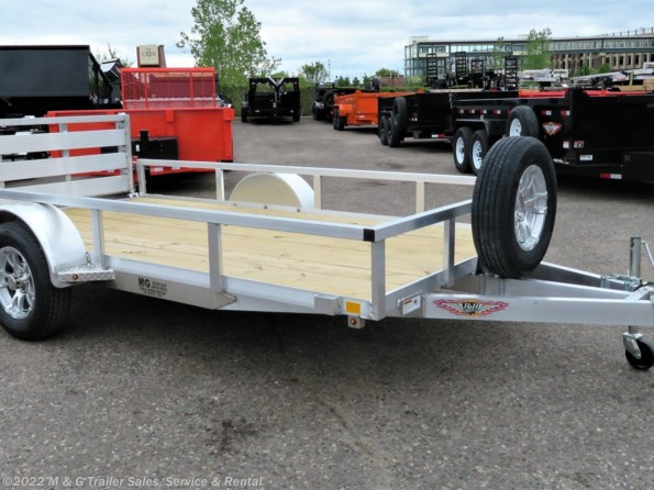 2021 H&H 76x12 Aluminum Rail Side Utility Trailer 3K available in Ramsey, MN
