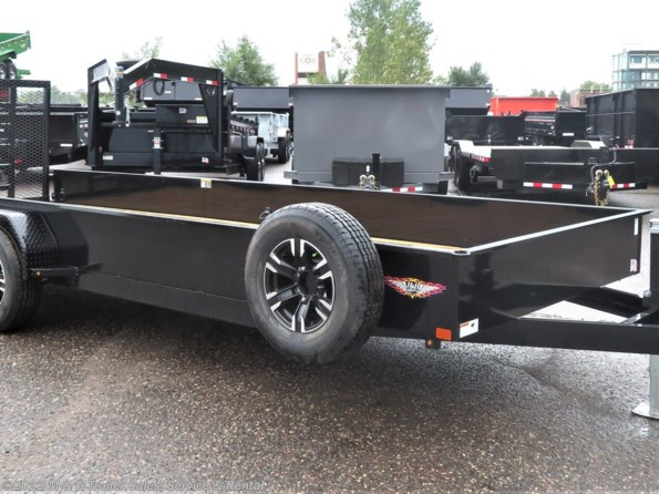 2021 H&H 82x20 10K Solid Side Utility Trailer - Black available in Ramsey, MN