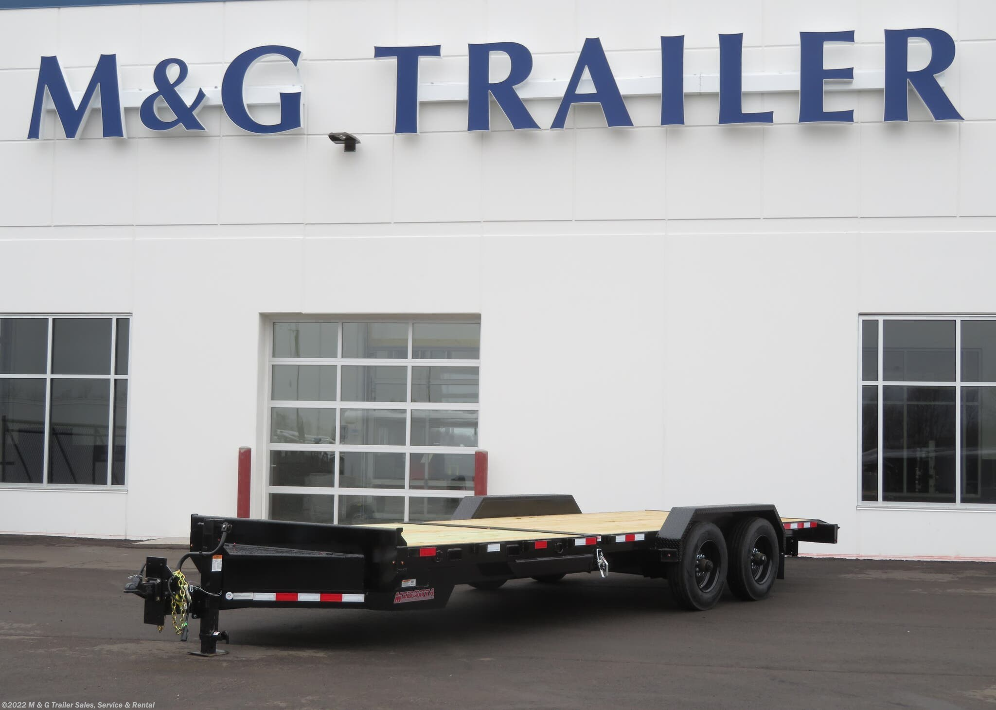 2021 Midsota TBHD-24 Tilt Bed 22k Equipment Trailer - Black - Stock #003705