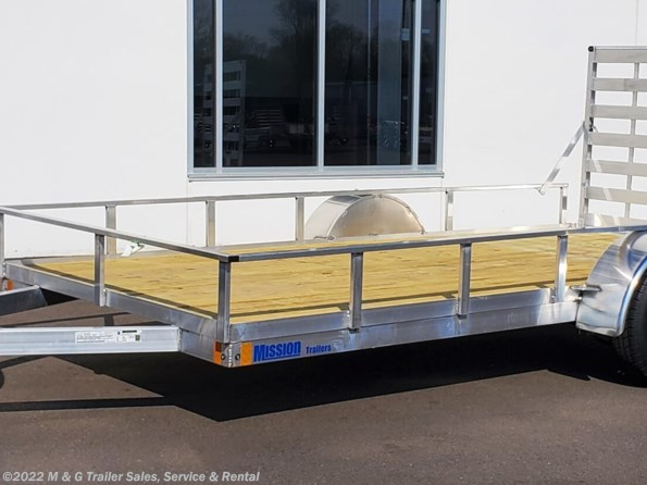 2021 Mission Trailers 80x14 Single Axle Aluminum Utility Trailer available in Ramsey, MN