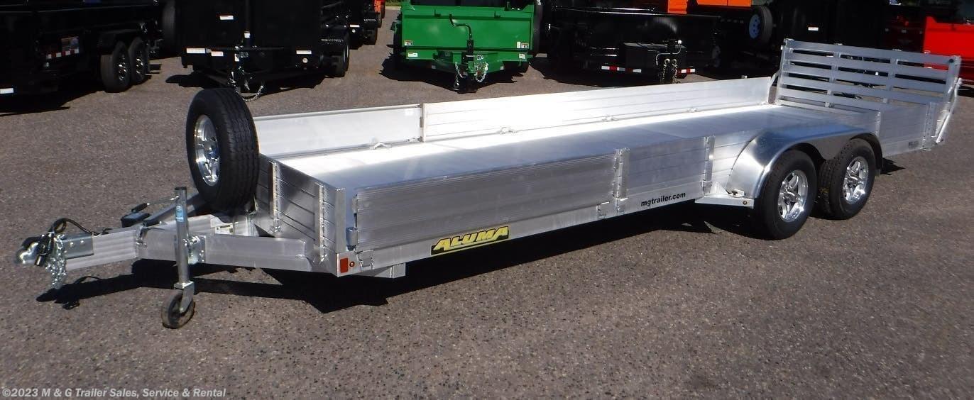 2022 Aluma 8122TA SR Aluminum ATV/Utility Trailer - Stock #238651