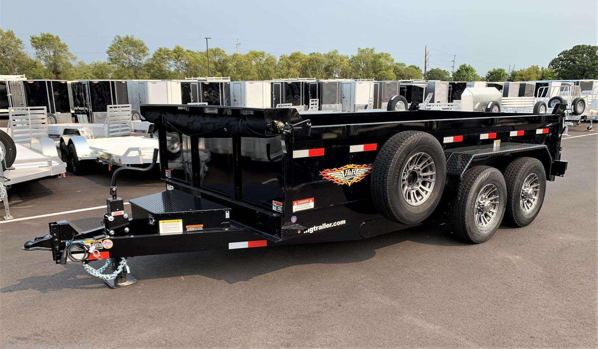 2021 H&H 14' Dump 14k Trailer - Black - Stock #565530