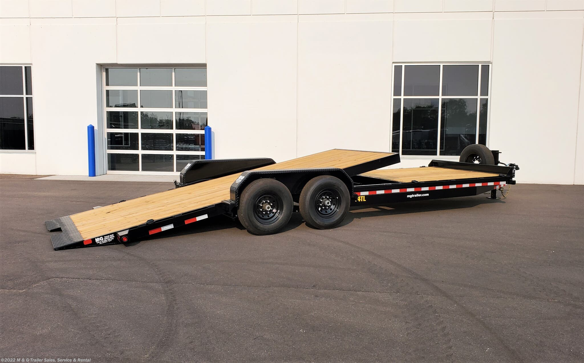 2021 Big Tex 24' Tilt Bed - 8' Stationary Deck - Stock #068898