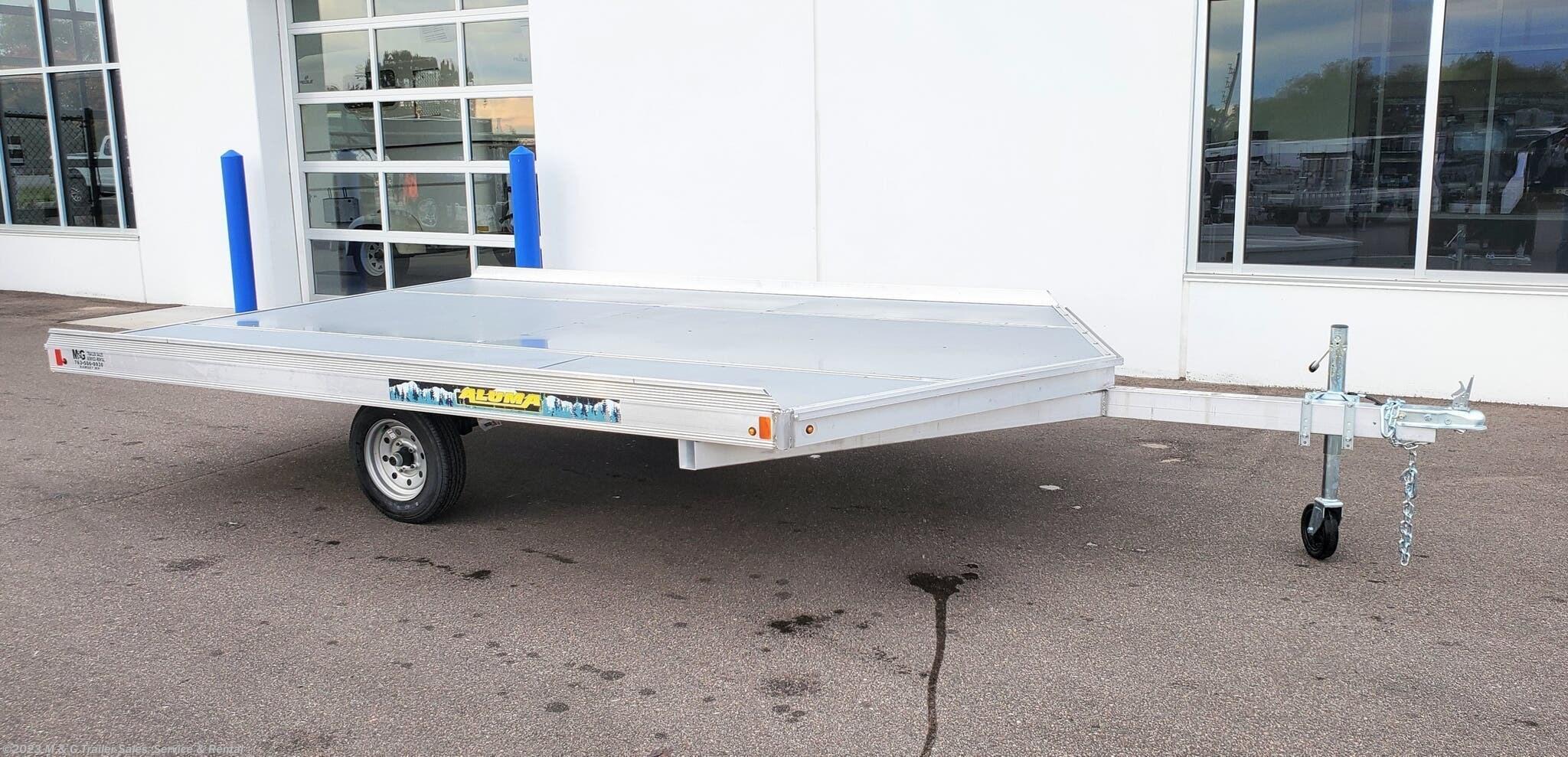 2022 Aluma 8612DH Aluminum Snowmobile Trailer - Stock #245153