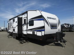 New 2018  Keystone Fuzion Impact 332 12 FT GARAGE/ 2 BATHROOMS/ RAMP DOOR PATIO PKG by Keystone from Best RV Center in Turlock, CA