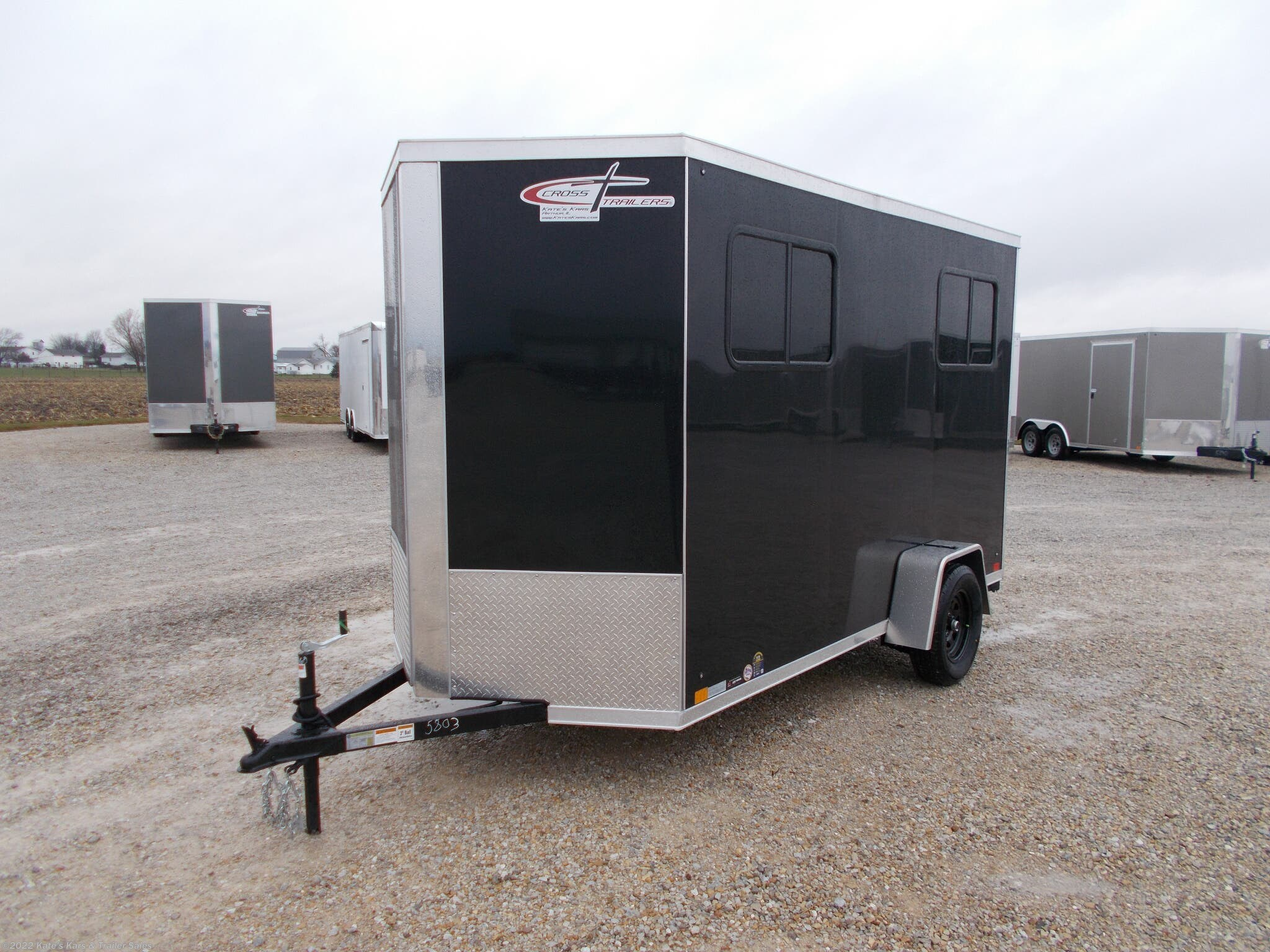 "2021 Cross Trailers 6X12' Enclosed Cargo Trailer 12"" Additional Height - Stock #5803"
