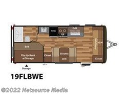 New 2017  Keystone Hideout 19FLBWE by Keystone from U-Neek RV Center in Kelso, WA