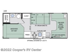 New 2018  Thor Motor Coach Four Winds 22E by Thor Motor Coach from Cooper's RV Center in Apollo, PA