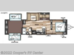 New 2018  Forest River Wildwood 31KQBTS by Forest River from Cooper's RV Center in Apollo, PA
