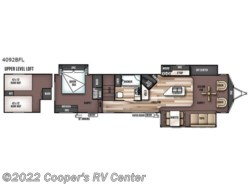 New 2018  Forest River Wildwood Lodge 4092BFL by Forest River from Cooper's RV Center in Apollo, PA