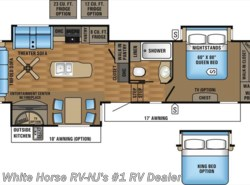 New 2017  Jayco Eagle 317RLOK Rear Living Room Triple Slideout by Jayco from White Horse RV Center in Williamstown, NJ