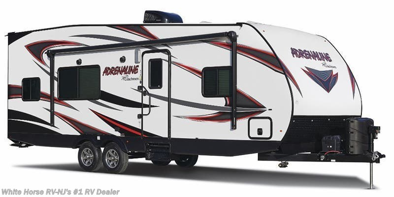 "2019 Coachmen Adrenaline 30QBS Slide Out, Rear 12' 6"" Cargo Area"