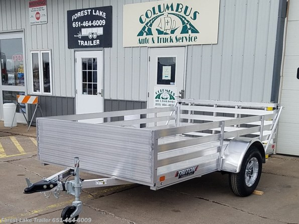 2021 Triton Trailers FIT1072 6x10 Solid Front/Fence Sides Aluminum Util available in Forest Lake, MN