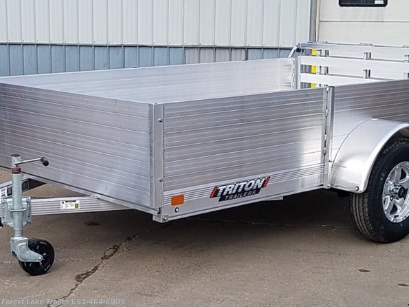 2021 Triton Trailers FIT1072 6x10 Tall Solid Front & Sides Aluminum Uti available in Forest Lake, MN