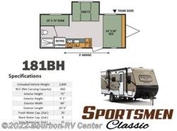 New 2018  K-Z Sportsmen Classic 181BH by K-Z from Bourbon RV Center in Bourbon, MO