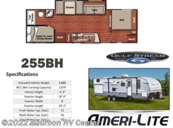 New 2019  Gulf Stream Ameri-Lite Ultra-Lite 255BH by Gulf Stream from Bourbon RV Center in Bourbon, MO