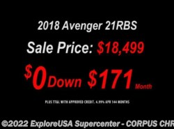 New 2018  Prime Time Avenger 21RBS by Prime Time from CCRV, LLC in Corpus Christi, TX