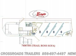 New 2017  Bison Trail Boss 7406 LIVING QUARTER by Bison from Crossroads Trailer Sales, Inc. in Newfield, NJ
