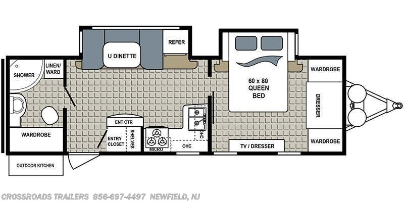 2018 Dutchmen Kodiak Ultra-Lite 2711BS floorplan image