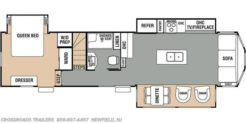 2018 Forest River Cedar Creek Cottage 40CL floorplan image