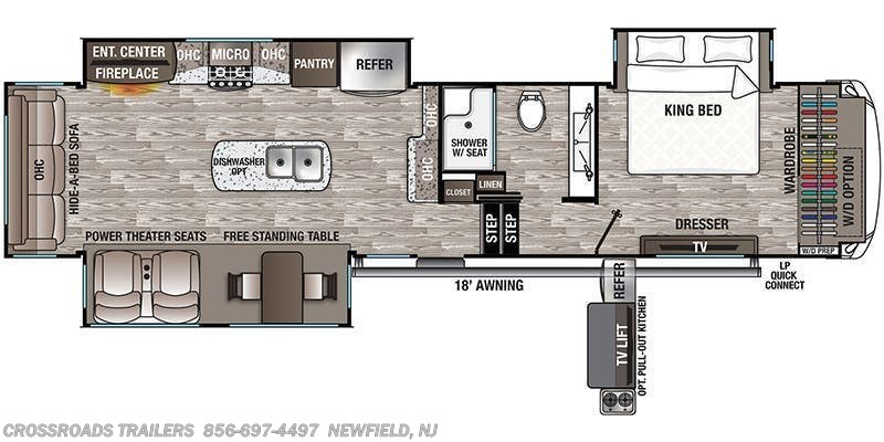 2020 Forest River Cedar Creek Hathaway Edition 36CK2 floorplan image