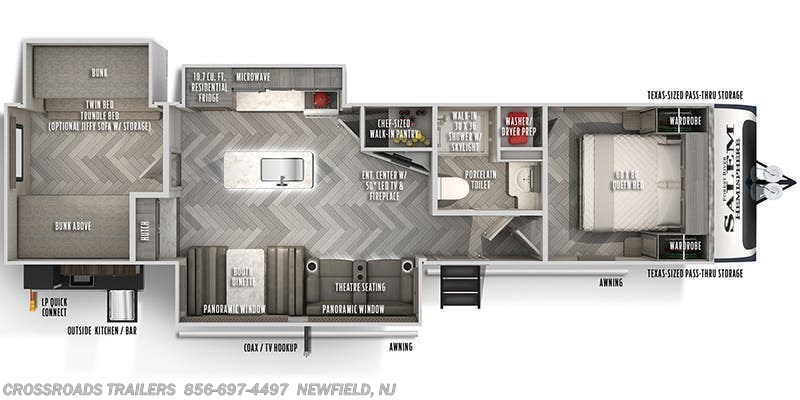 2021 Forest River Salem Hemisphere 310BHI floorplan image